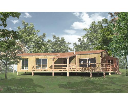 Autoconstruction extension bois for Autoconstruction maison en bois